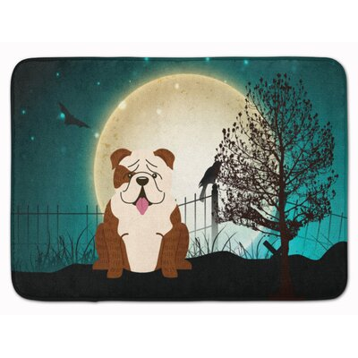 Halloween English Bulldog Brindle Memory Foam Bath Rug