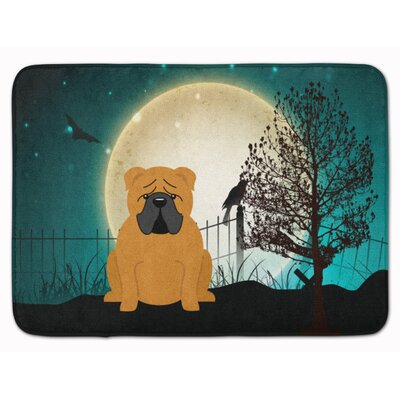 Testa Scary English Bulldog Memory Foam Bath Rug Color: White