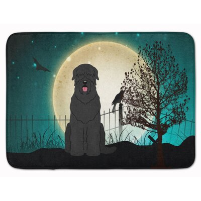 Halloween Scary Russian Terrier Memory Foam Bath Rug