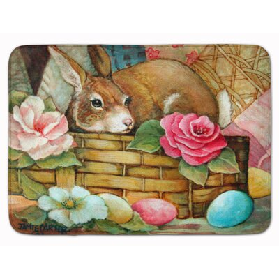 A Touch of Color Rabbit Easter Memory Foam Bath Rug