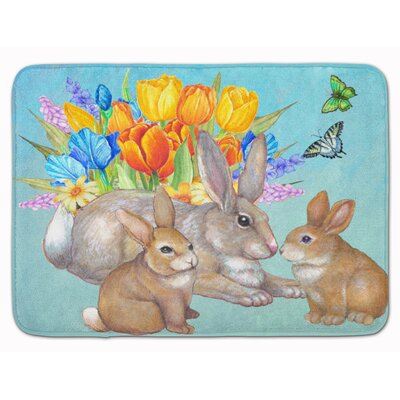 Easter Bunny Family Rabbit Memory Foam Bath Rug