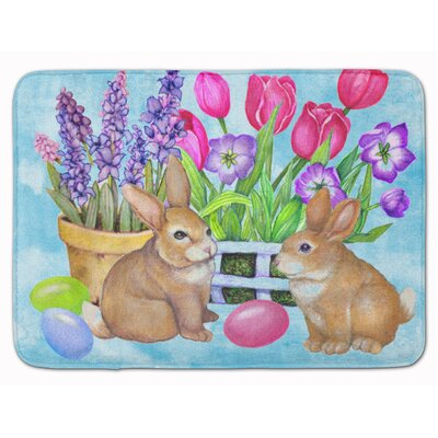 New Beginnings Easter Rabbit Memory Foam Bath Rug