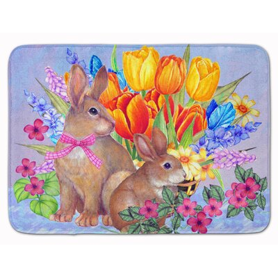 New Beginnings II Easter Rabbit Memory Foam Bath Rug
