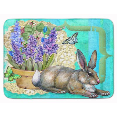 Springtime Easter Rabbit Memory Foam Bath Rug