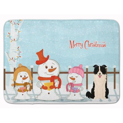 Christmas Border Collie Memory Foam Bath Rug
