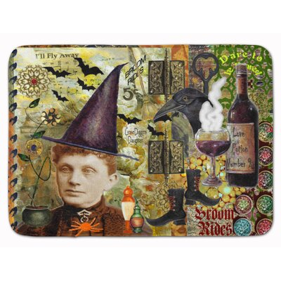 Halloween Broom Rides and Spells Memory Foam Bath Rug