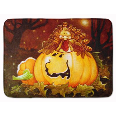 Testa Somebody to Love Pumpkin Memory Foam Bath Rug