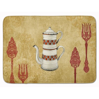 Welcome Teapot Memory Foam Bath Rug