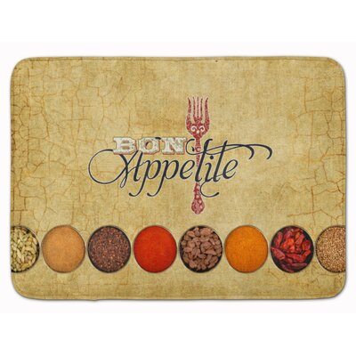 Bon Appetite and Spices Memory Foam Bath Rug