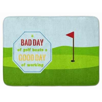 A Bad Day at Golf Memory Foam Bath Rug