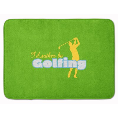 Id rather be Golfing Man Memory Foam Bath Rug