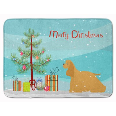 Cocker Spaniel Merry Christmas Tree Memory Foam Bath Rug
