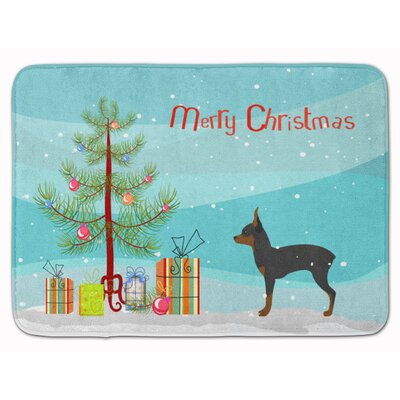 Toy Fox Terrier Merry Christmas Tree Memory Foam Bath Rug