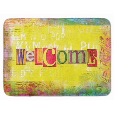 Welcome Artsy Memory Foam Bath Rug