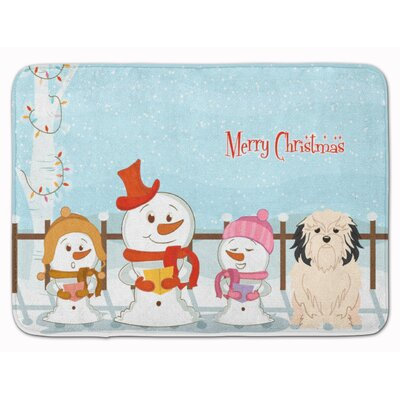 Merry Christmas Carolers Lowchen Memory Foam Bath Rug