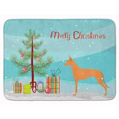 Pharaoh Hound Merry Christmas Tree Memory Foam Bath Rug