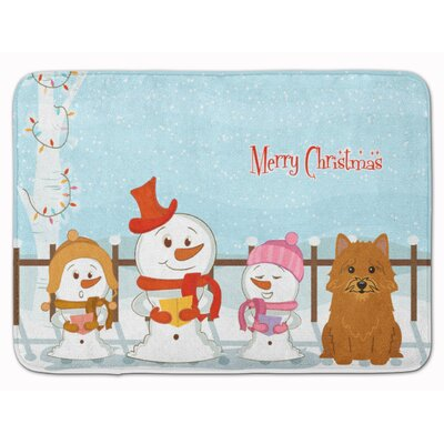 Merry Christmas Norwich Terrier Memory Foam Bath Rug