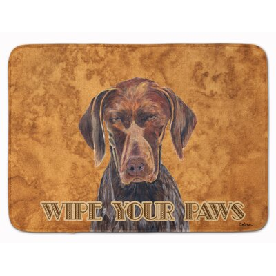 German Shorthaired Pointer Wipe Paws Memory Foam Bath Rug