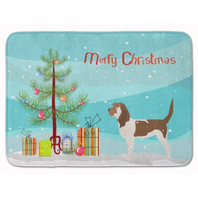 Grand Basset Griffon Vendeen Christmas Memory Foam Bath Rug