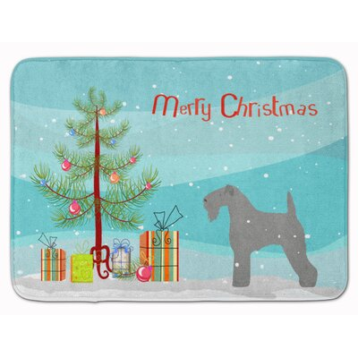Kerry Blue Terrier Merry Christmas Tree Memory Foam Bath Rug