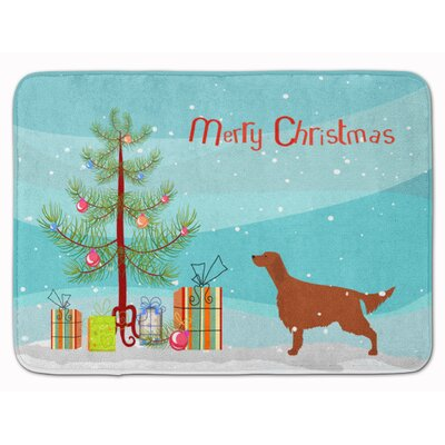 Irish Setter Merry Christmas Tree Memory Foam Bath Rug