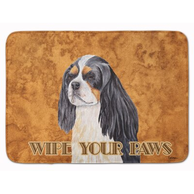 Cavalier Spaniel Wipe your Paws Memory Foam Bath Rug