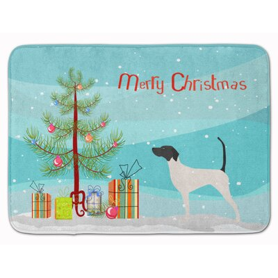 English Pointer Merry Christmas Tree Memory Foam Bath Rug