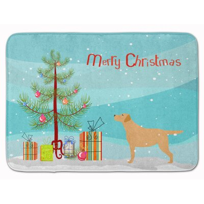 Labrador Retriever Christmas Memory Foam Bath Rug