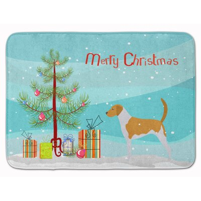 American Foxhound Merry Christmas Tree Memory Foam Bath Rug