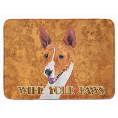 Basenji Wipe your Paws Memory Foam Bath Rug