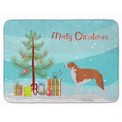 Borzoi Russian Grayhound Christmas Tree Memory Foam Bath Rug