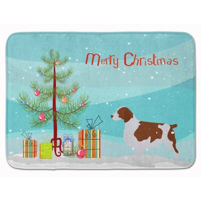 Welsh Springer Spaniel Christmas Tree Memory Foam Bath Rug