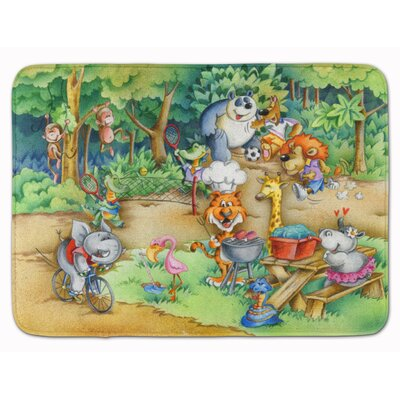 Animals at a Picnic Memory Foam Bath Rug