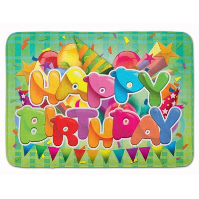 Happy Birthday Memory Foam Bath Rug