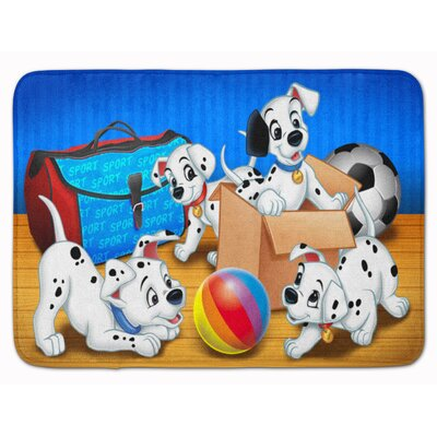 Dalmatian Playing Ball Memory Foam Bath Rug