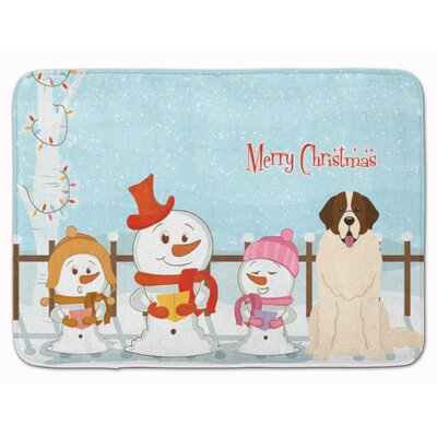Merry Christmas Moscow Watchdog Memory Foam Bath Rug