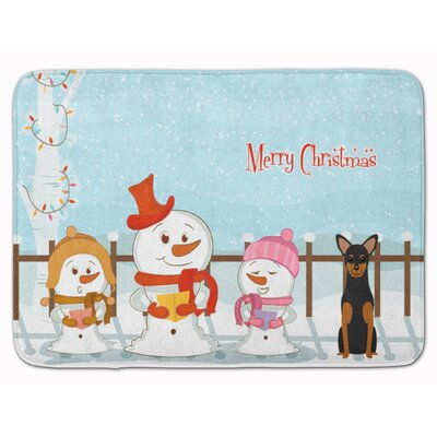 Christmas Carolers Manchester Terrier Memory Foam Bath Rug
