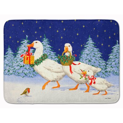 Three Geese and Gifts Memory Foam Bath Rug