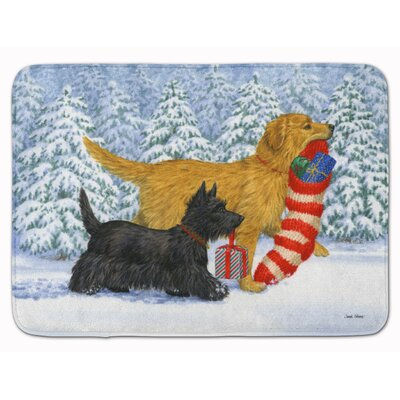 Retriever Keep Up There Scottie Memory Foam Bath Rug