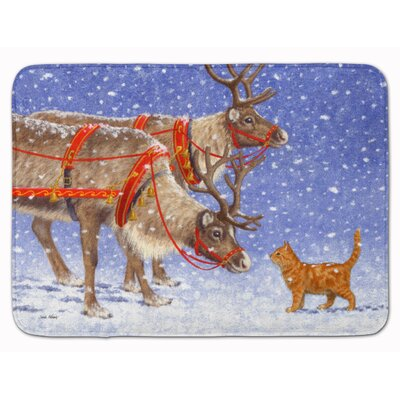 Reindeer and Cat Memory Foam Bath Rug