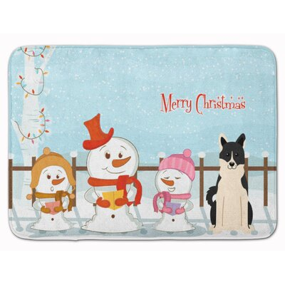 Christmas Russo-European Laika Spitz Memory Foam Bath Rug