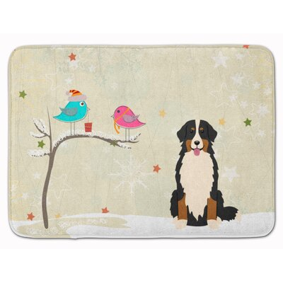 Christmas Presents Bernese Mountain Dog Memory Foam Bath Rug