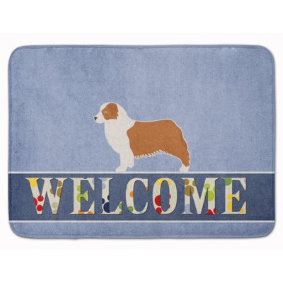 Australian Shepherd Dog Welcome Memory Foam Bath Rug