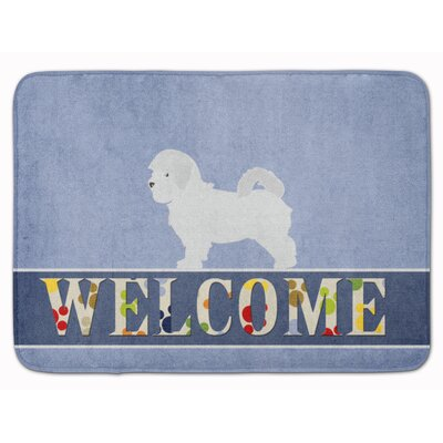 Palmer Maltese Welcome Memory Foam Bath Rug