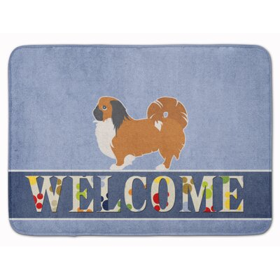 Pekingese Welcome Memory Foam Bath Rug
