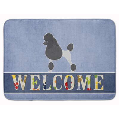 Poodle Welcome Memory Foam Bath Rug