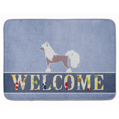 Chinese Crested Welcome Memory Foam Bath Rug