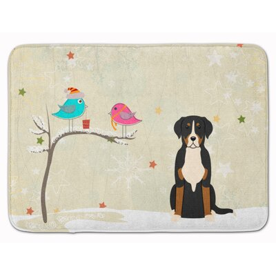 Christmas Greater Swiss Mountain Dog Memory Foam Bath Rug