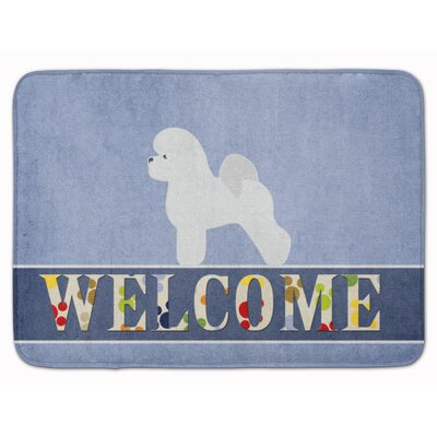 Bichon Frise Welcome Memory Foam Bath Rug