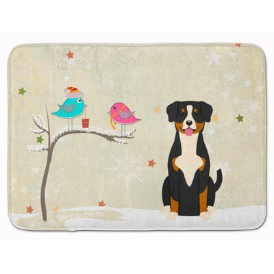 Christmas Presents Friends Entlebucher Memory Foam Bath Rug